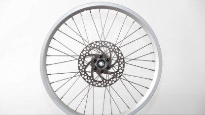 16-inch Silver Aluminium STRIDA Wheel Rim set with brake discs / freewheel assembled (without tires) - 448-16-silver-set brakediscs freewheel - Wheel - Wheels