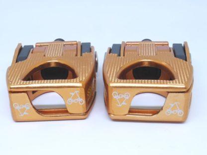 Copper colored aluminium STRIDA folding pedals - Bicycle pedals - Folding pedals - Pedals - ST-PDS-003