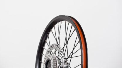 16-inch Black Aluminium STRIDA Wheel Rim set with brake discs / freewheel assembled (without tires) - 448-16-black-set brakediscs freewheel - Wheel - Wheels