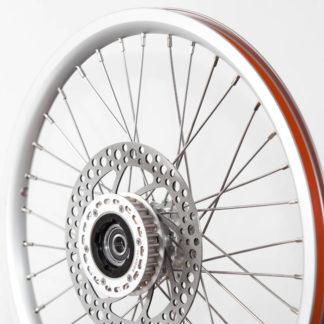 """Speichenrad-Satz 16"""", Felge mit Bremsscheiben und Freilauf - silber (ohne Reifen) - 448-16-silver-set brakediscs freewheel - Rad - Räder"""