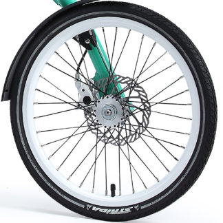 18-inch White Aluminium STRIDA Wheel Rim set with brake discs / freewheel assembled (without tires) - 448-18-white-set brakediscs freewheel - Wheel - Wheels