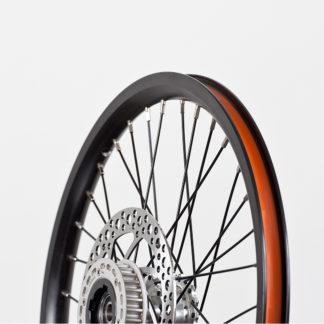 18-inch Black Aluminium STRIDA Wheel Rim set with brake discs / freewheel assembled (without tires) - 448-18-black-set brakediscs freewheel - Wheel - Wheels