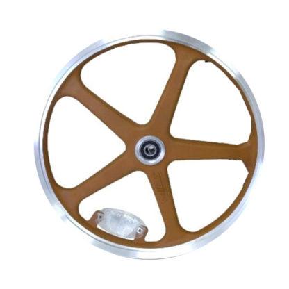 16 pouces roue à bâtons arrière (marron) - 448-16-LT-brown-rear - frein - Roue