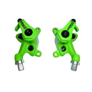 Neon green colored STRIDA disc brake clamps - 240 340-04-neon green - Brake clamp - Brakes