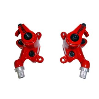 Red colored STRIDA disc brake clamps - 240 340-04-red - Brake clamp - Brakes