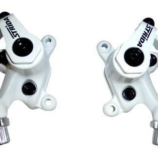 White colored STRIDA disc brake clamps - 240 340-04-white - Brake clamp - Brakes