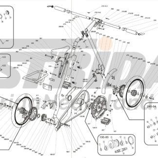 STRIDA-Lagerring oben (für Untere Rahmen Teil) - 100-03 - Kugellager - Lager Ringe - strida