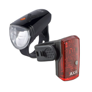 Set: AXA Greenline head & tail light - USB - Black - AXA - Bicycle lamps - LED - led lamp - Lighting - rechargeable - Safety - usb - visibility