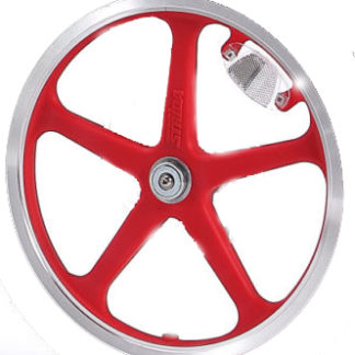 Rear 16-inch STRIDA LT Rim red wheel - 16 inch - 448-lt-16-spoke-red-rear - 5 Spokes - red - Wheel