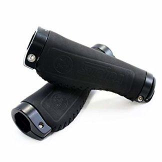 Black leather Comfort STRIDA handlebar grips - black - Color - leather - ST-GP-004