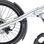 STRIDA SX Silver Brush - Black details - 18 inch - bike - Buy foldable bikes - Buy folding bicycle - Buy folding bike - Buy folding bikes - buying - collapsible bike - Design bike - Design folding bike - foldable bike - Folding bicycle - Folding bike - Folding bike shop - Folding bikes - for sale - Lightweight - new - shop - Single speed - strida - Strida design folding bike - sx - Triangular - Triangular folding bike - Triangular shaped - unique folding bike