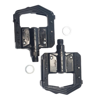 Lightweight black aluminium folding pedals - Bicycle pedals - F265-BB - Folding pedals - Pedals