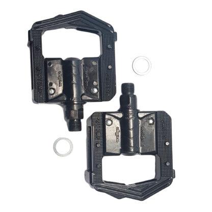 Lightweight black aluminium folding pedals - Bicycle pedals - F265-BB - Folding pedals - Pedals